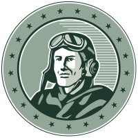 Old School Flight School logo